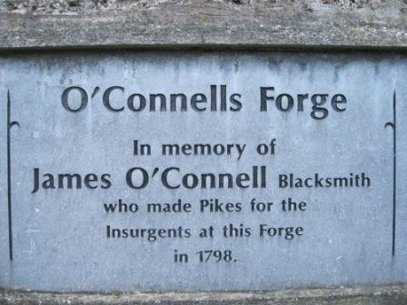 20 - Connells Forge Plaque Ongenstown 1